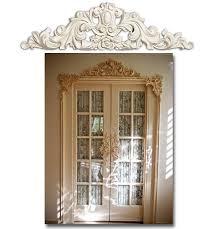 ornamental molding around door wainscoting