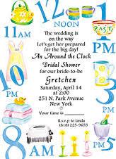around the clock bridal shower around the clock bridal shower invitations dhavalthakur