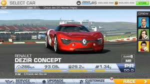 renault dezir concept real racing 3 renault dezir concept review gameplay youtube