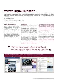volvo official website volvo cars corporation shifting from a b2b to a b2b b2c business m