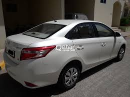 toyota white car for sale toyota yaris 2015 white pearl call 50246230 qatar