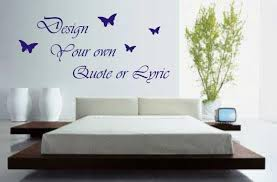 Design Your Own Wall Art Quote Or Lyric Sticker Decal EBay Design - Design your own wall art stickers
