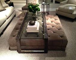 Glass Ottoman Coffee Table Glass Coffee Table With Ottomans Underneath Great Best Ottoman