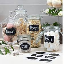 What To Put In Kitchen Canisters Amazon Com Native Spring Chalkboard Labels 40 Premium Waterproof