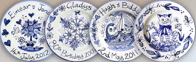 painted wedding plates personalized painted plates for weddings christenings and births