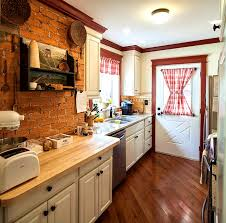 apartments licious exposed brick wall kitchen designs walls