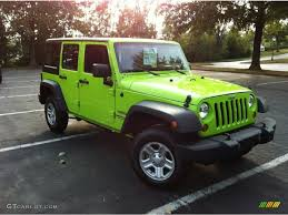 lime green jeep wrangler 2012 for sale gecko green 2012 jeep wrangler unlimited sport 4x4 exterior photo