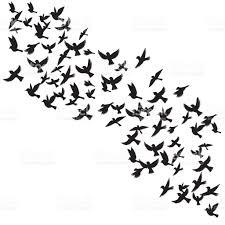 vector flying birds silhouettes stock vector art 663837686 istock
