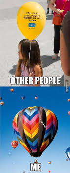 Balloon Memes - 9gag on twitter they say you fart a balloon s worth of gas a day