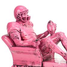 Armchair Quarterback Game Pink Armchair Quarterback Resin Fantasy Football Trophy Tempe Trophy