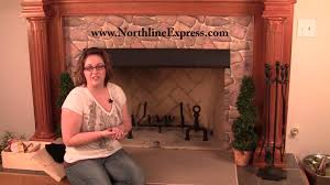 protect your mantle and fireplace surround with a black fireplace