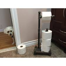 Free Standing Toilet Paper Holder by Industrial Style Freestanding Toilet Paper Holder