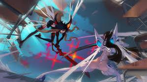 anime wallpapers girls sword fighting wallpaper anime girls sword fighting kill la kill matoi ryuuko