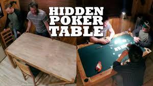 Dinner Table Turn Your Dinner Table Into A Hidden Poker Table Youtube