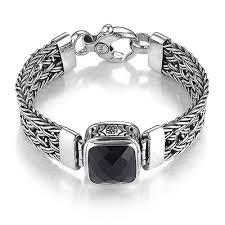 black onyx silver bracelet images Contemporary sterling silver black onyx bracelet by sara blaine jpg