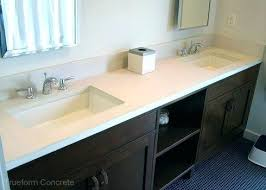 Bathroom Vanities Tops by Vanities Concrete Bathroom Vanity Diy How To Make Concrete