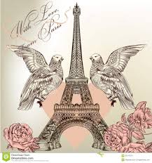 Beautiful Eiffel Tower by Beautiful Valentine Card With Detailed Vector Eiffel Tower Rose