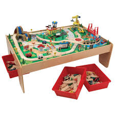 kidkraft train table set kidkraft waterfall train set toy cars other vehicles best buy