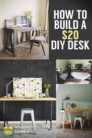 Diy Desk With File Cabinets by How To Build A Desk For 20 Bonus 5 Cheap Diy Desk Plans U0026 Ideas