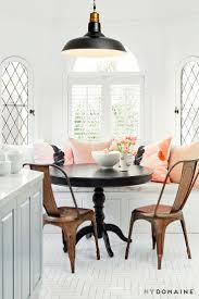 best 25 bench kitchen tables ideas on pinterest bench for home tour nina dobrev s bright california cool bungalow dining nookpedestal dining tabledining benchround