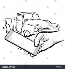 car rental service via cellphone app stock vector 447092197