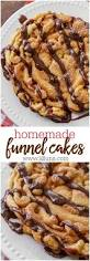 funnel cakes recipe homemade cakes and sauces