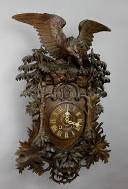 a rare antique black forest cuckoo clock with eagle ca 1900