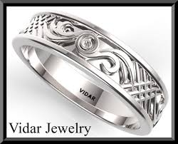 Mens White Gold Wedding Rings by Unique Mens Wedding Bands White Gold Vidar Jewelry Unique