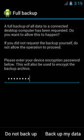 android backup how to backup your entire android device to pc