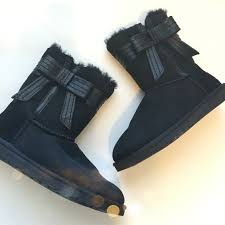 ugg josette sale ugg josette black bow boots cas shopping and signs