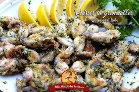 grenouille cuisine cuisses de grenouilles en persillade petits plats entre amis