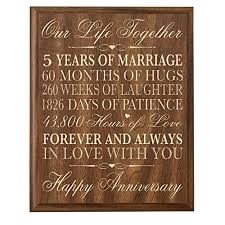 what to get husband for anniversary 5th wedding anniversary wall plaque gifts for