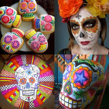 dia de los muertos sugar skulls sugar skull pumpkin crafts for dia de los muertos