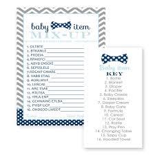 amazon com 24 bow tie baby shower bingo cards littel man boy