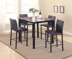 4 Piece Dining Room Sets Furniture Counter Height Table Sets For Elegant Dining Table