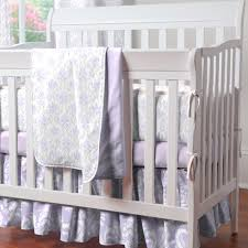 Solid Wood Mini Crib lilac and silver gray damask mini crib bedding mini crib bedding
