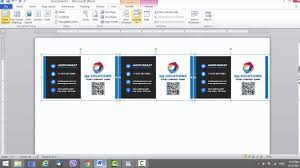business card template for microsoft word youtube