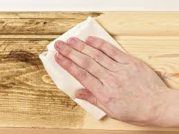 How To Remove Oil Stains From Wood Cabinets How To Apply Stain Varnish Wax Dye Or Oil To Wood How Tos Diy
