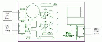 dc to ac sine solar inverter igbt 20v to 120v 500w schematic