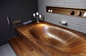 Bathtub Ideas Pictures Luxurious And Dramatic Wooden Bathtubs Make A Bold Visual Statement