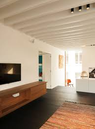 Tv Rack Design by Home Design Wooden Tv Rack Panel In White Wall Living Room