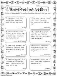 first grade word problems addition and subtraction within 20