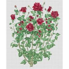counted cross stitch pattern roses bouquet pdf cs0583