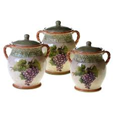 french sunflowers canister set 3 piece set 43210 the home depot