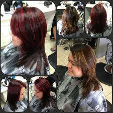 hair color pics highlights multi highlight multi toned red hair