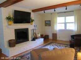 Mounting Tv Over Brick Fireplace by How To Mount A Tv On A Brick Fireplace Brick Fireplace Paint