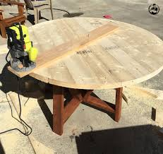 Build A Wooden Table Top by Round Trestle Dining Table Free Diy Plans Rogue Engineer
