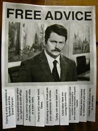 Funny Advice Memes - ron swanson free advice funny pictures quotes memes funny