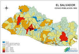 El Salvador On World Map by El Salvador Population Map 4 Png