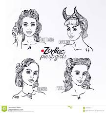 set of four zodiac signs 3 stock vector image 56650317